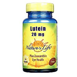 Nature's Life Lutein 20 mg