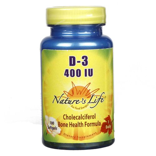 Nature's Life D-3 400 IU - 100 Softgels - 040647001299_1.jpg