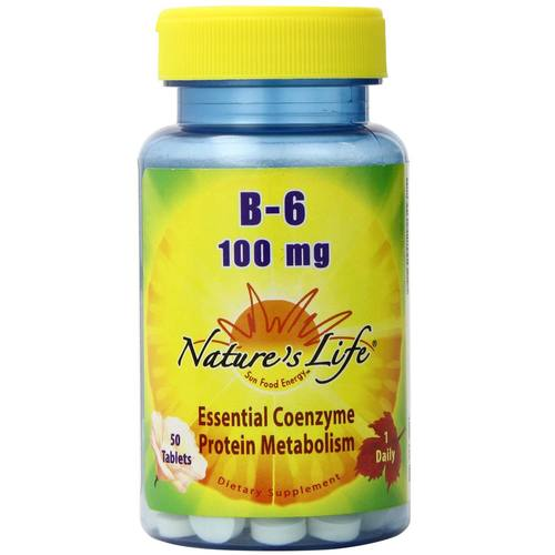 Nature's Life B-6 100 mg - 50 Tablets - 50418_01.jpg