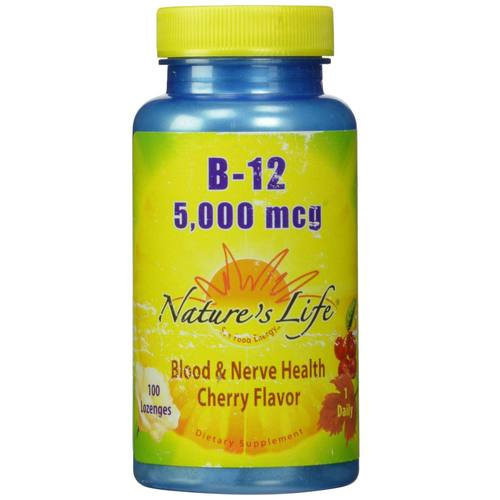 Nature's Life B-12 5-000 mcg Cherry - 100 Lozenges - 50419_01.jpg