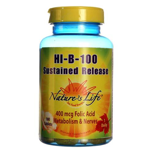 Nature's Life Hi-B-100 Sustained Release - 100 Tablets - 20121211_134.jpg