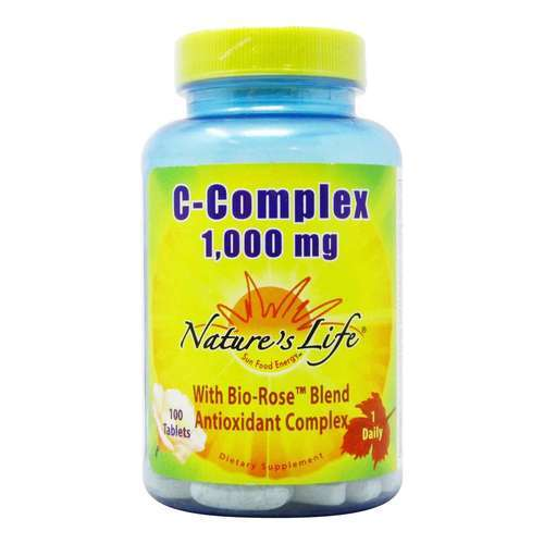 Nature's Life C-Complex - 1,000 mg - 100 Tablets - 50446_front2020.jpg