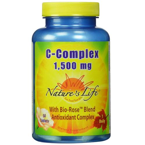 Nature's Life Vitamin C-Complex  - 1,500 mg - 50 Tablets - 50448.jpg