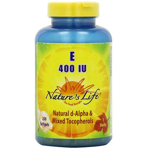 Nature's Life E 400 IU  - 250 Softgels - 50462_01.jpg