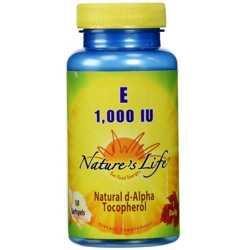 Nature's Life Vitamin E - 1,000 IU - 50 Softgels - 50465_01.jpg