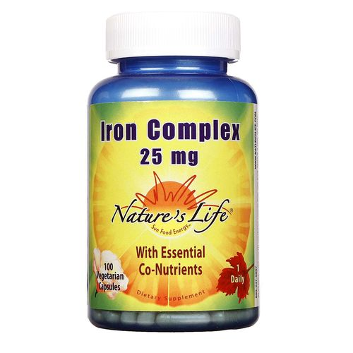 Nature's Life Iron Complex 25 mg  - 100 VCapsules - 040647002272_1.jpg