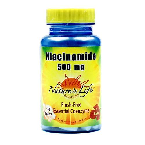 Nature's Life Niacinamide 500 mg  - 100 Tablets - 040647002623_1.jpg