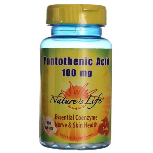 Nature's Life Pantothenic Acid 100 mg - 100 Tablets - 20121119_330.jpg