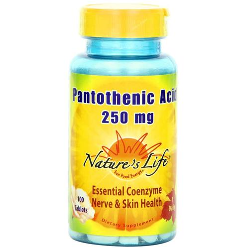 Nature's Life Pantothenic Acid 250 mg - 100 Tablets - 50486.jpg