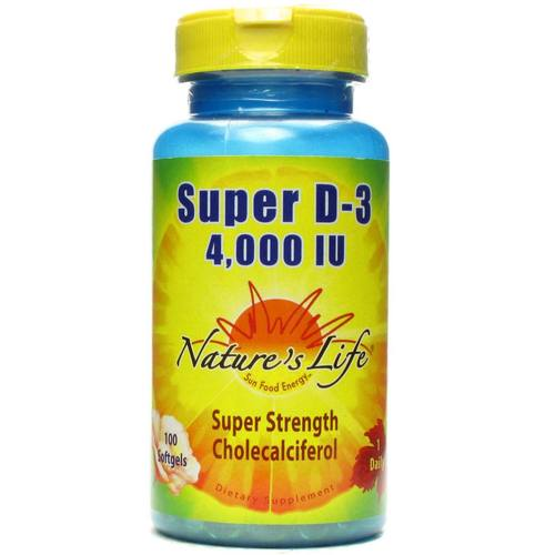 Nature's Life Super D-3 5-000 IU - 100 Softgels - 50492.jpg