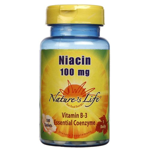 Nature's Life Niacin 100 mg  - 100 Tablets - 040647003422_1.jpg