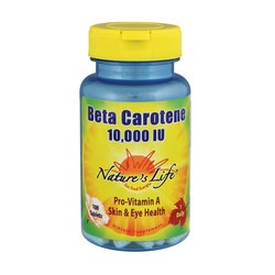 Nature's Life Beta Carotene 10,000 IU