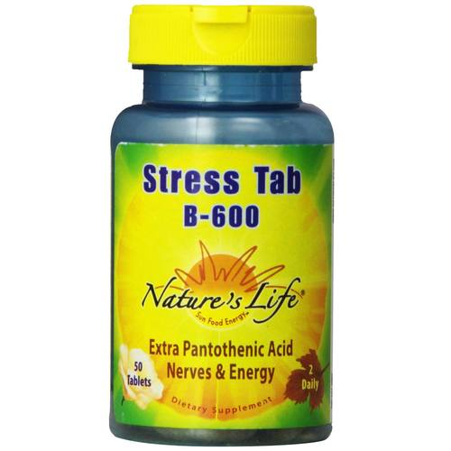 Nature's Life Stress Tab B-600 - 50 Tablets - 50531_01.jpg