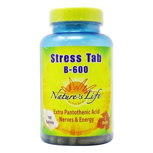 Nature's Life Stress Tab B-600 - 100 Tablets - 50532_front2020.jpg