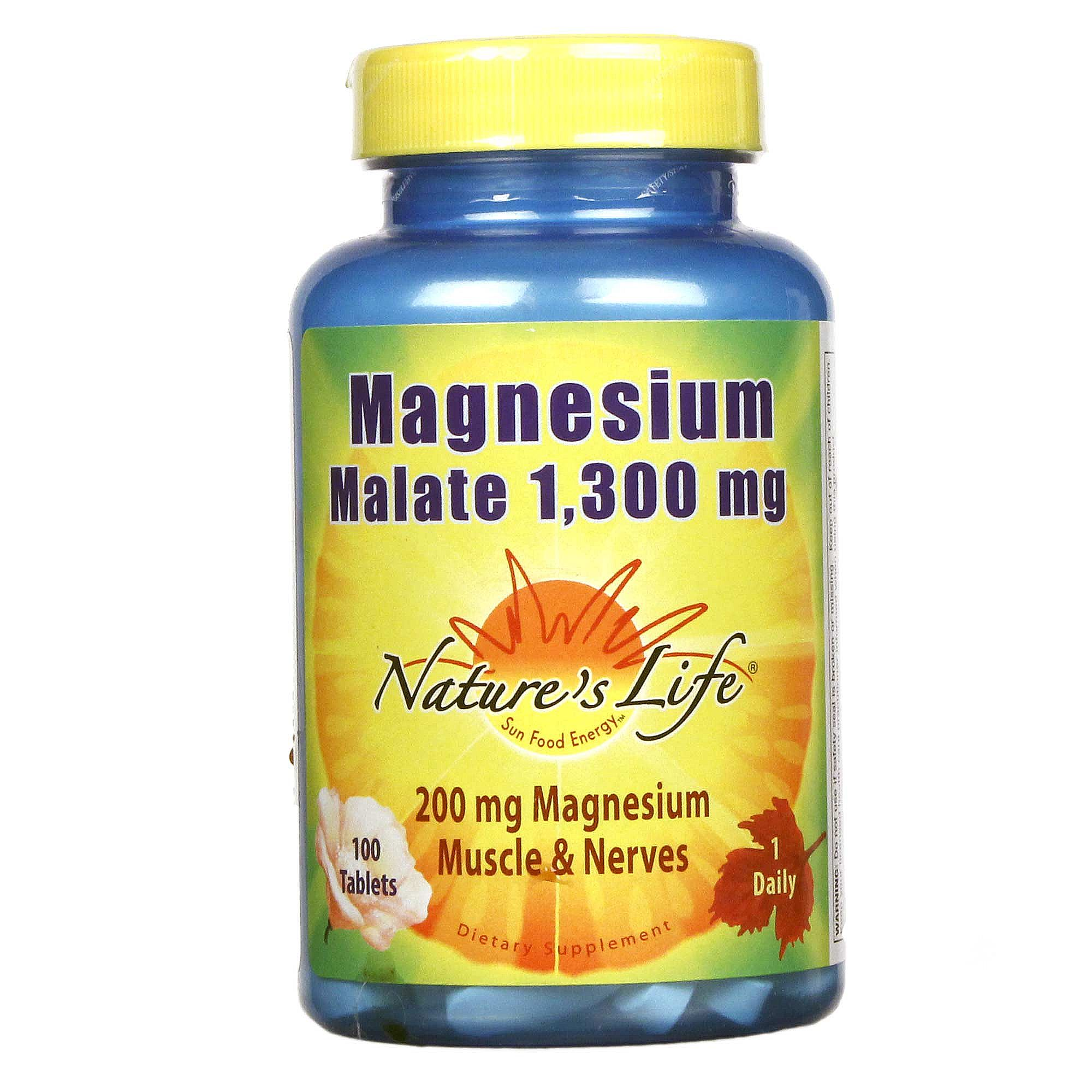Natures Life Magnesium Malate 200 Mg 100 Tablets Healthy Care Omega 369 Caps Hover To Zoom