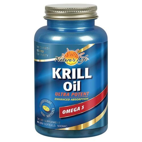 Nature's Life Krill Oil Lemon - 500 mg - 90 Mini Softgels - 51613_front.jpg