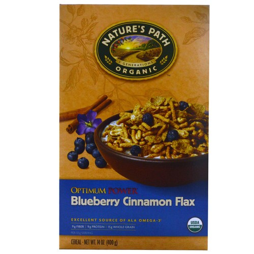 Natures Path Optimum Power Blueberry Cinnamon Flax Cereal  - 14 oz - 61444_01.jpg