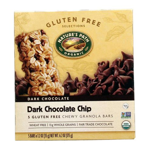 Dark Chocolate Chip Chewy Granola Bars