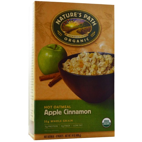 Natures Path Apple Cinnamon Oatmeal (6 Pack) - 6 - 8 Packet Boxes - 61496_01.jpg