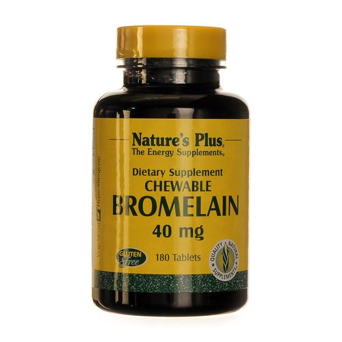 Nature's Plus Bromelain 40 mg  - 180 Tablets - 20120724_173.jpg