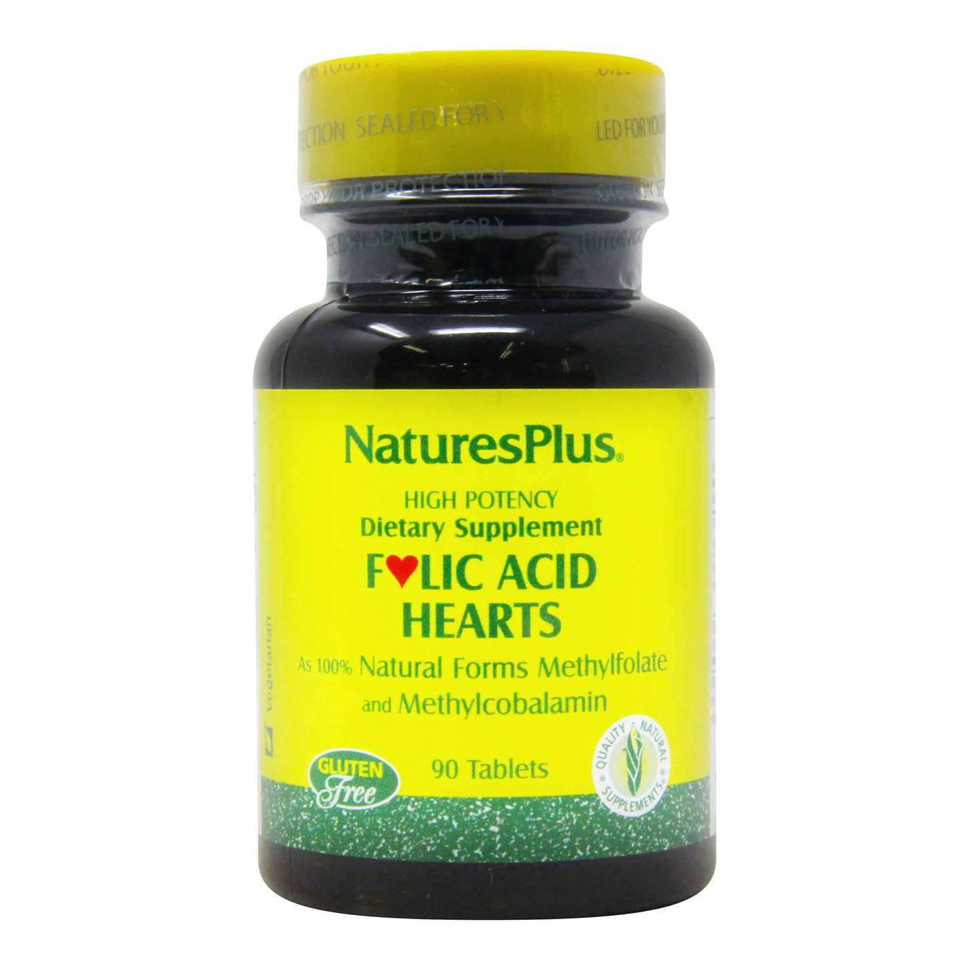 Nature S Plus Folic Acid Hearts 400 Mcg 90 Tablets Evitamins Com