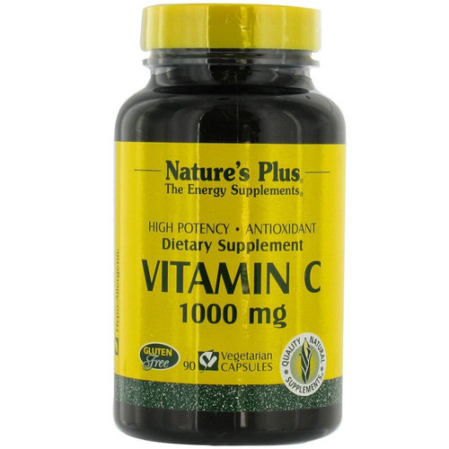 Nature's Plus Vitamin C  - 1000 mg - 90 Vegetarian Capsules