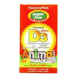 Nature's Plus Animal Parade Children's Vitamin D3