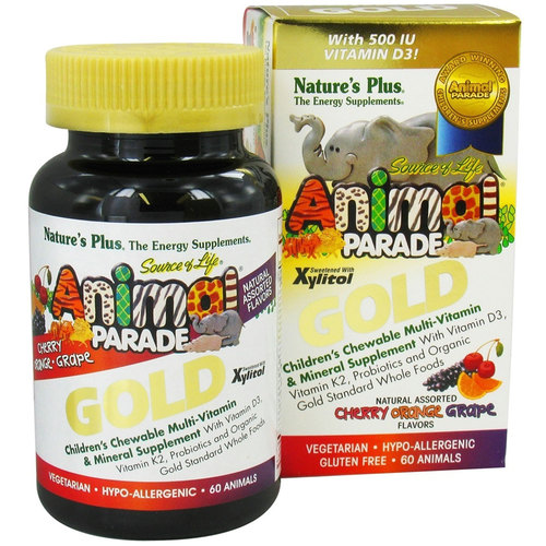 Animal Parade Gold Children's Chewable Multi-Vitamin & Mineral