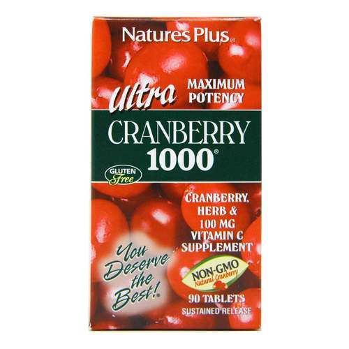 Nature's Plus Ultra Cranberry 1000 - 90 таблеток - 11623_front2020.jpg