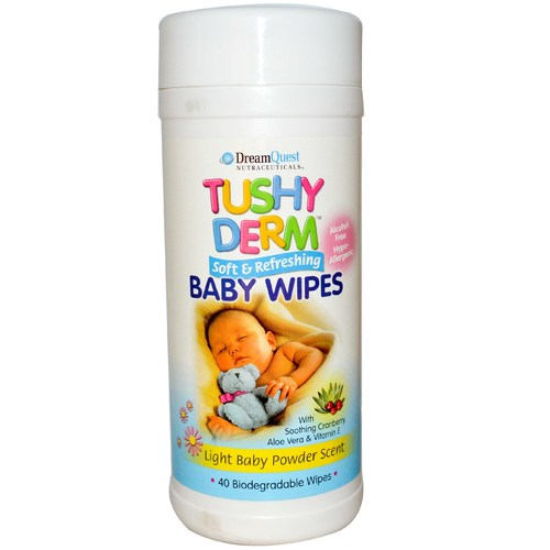 Tushy Derm Baby Wipes