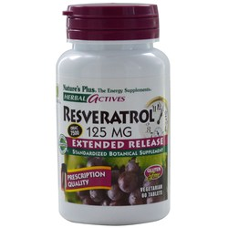 Nature's Plus Resveratrol 125 mg