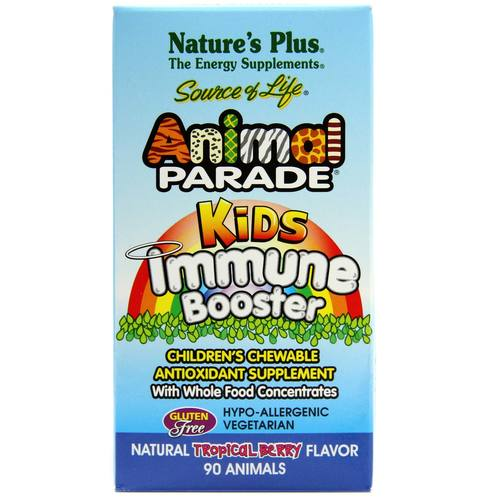 Nature's Plus Animal Parade Kids Immune Booster Berry - 90 Chews - 15385_1.jpg