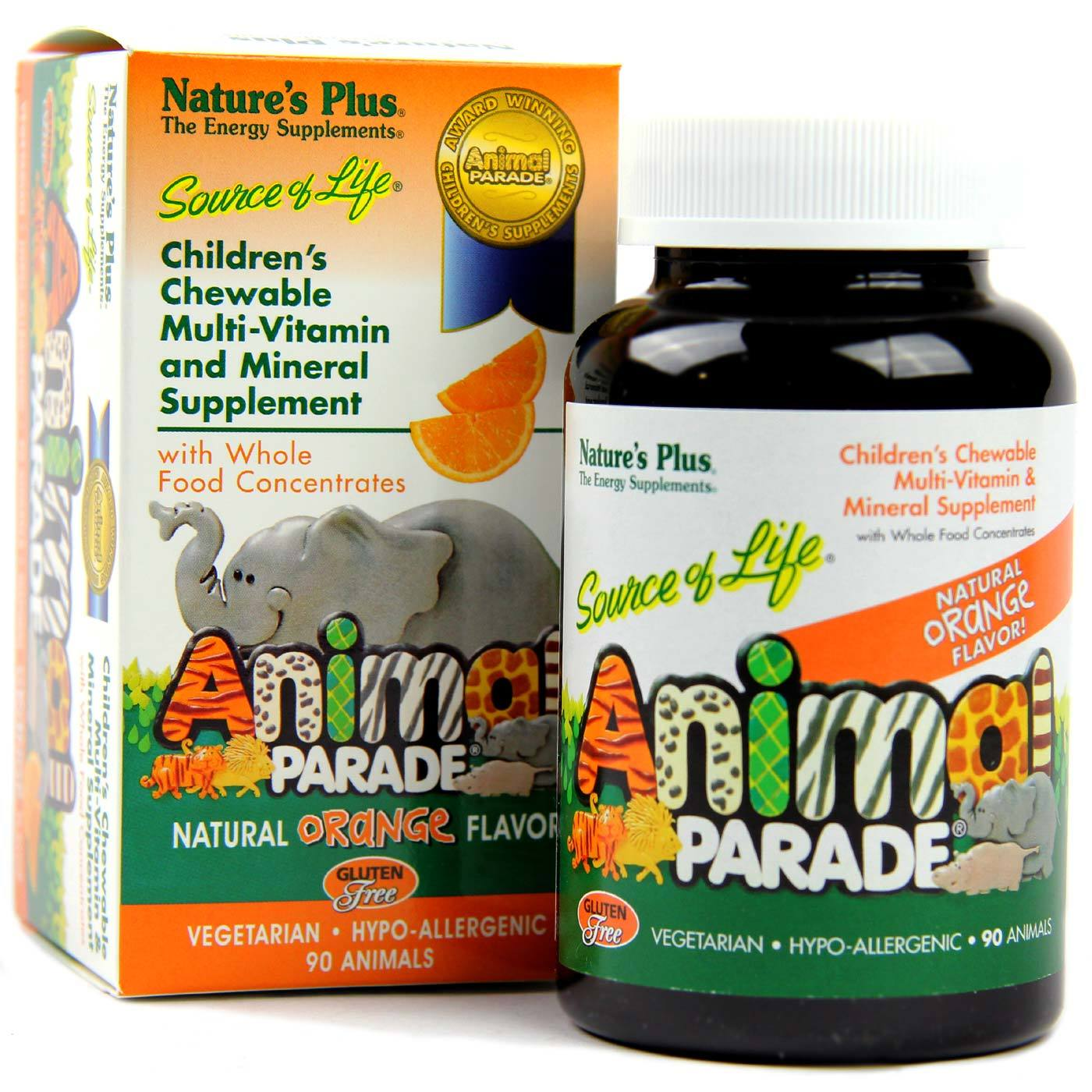 Natures Plus Animal Parade Multiple Orange 90 Chews Calcium View Image