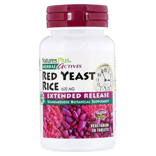 Nature's Plus Red Yeast Rice Extended Release - 600 mg - 30 Tablets - 356_front.jpg