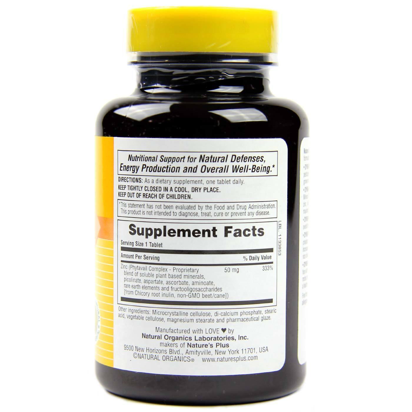 Nature S Plus Dyno Mins Zinc 90 Tablets Evitamins Com