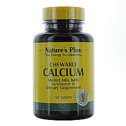 Nature's Plus Chewable Calcium Malted Milk Balls w/ Vitamin D