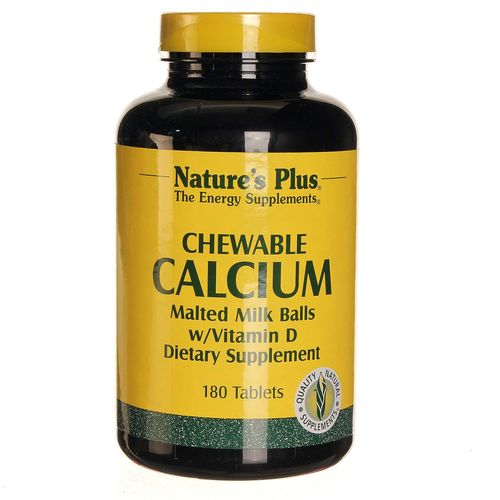 Chewable Calcium Malted Milk Balls w/ Vitamin D 1000 mg