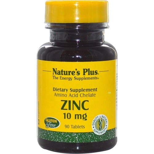 Nature's Plus Zinc - 10 mg - 90 Tablets - 3922_01.jpg