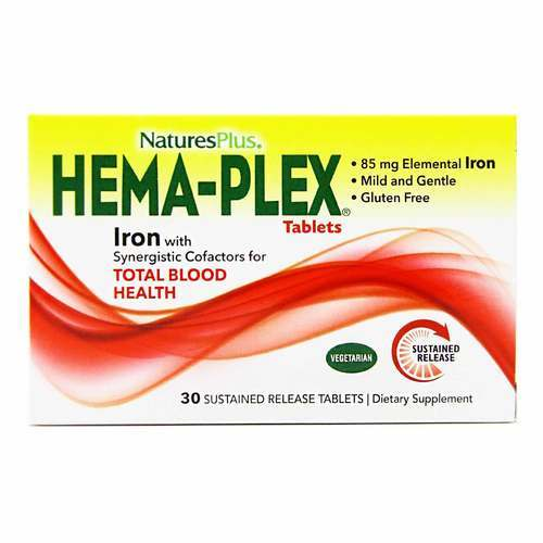 Nature's Plus, HEMA-Plex - 30 Tabletes - 429_front2020.jpg