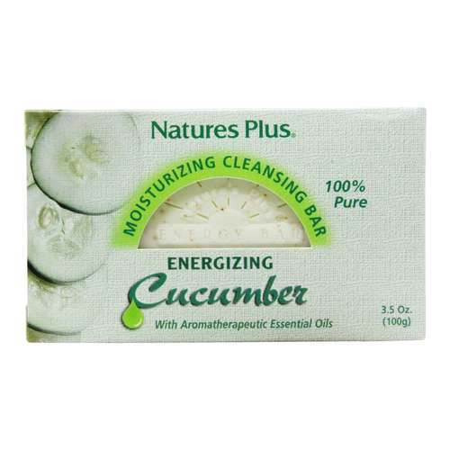 Nature's Plus Cucumber Cleansing Bar - 3.5 oz (100 g) - 5768_front2020.jpg