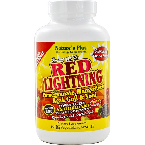Nature's Plus Source of Life Power-Packed Whole Food Concentrate  - Red Lightning - 180 Vegetarian Capsules - 6271_01.jpg