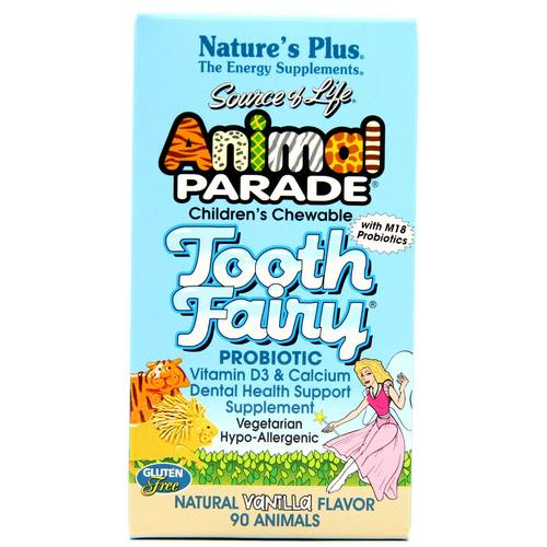 Nature's Plus Animal Parade Tooth Fairy Probiotic Vainilla - 90 Chewables - 69099_1.jpg