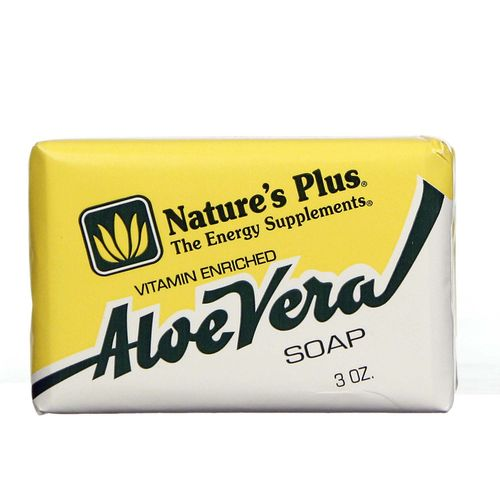 Nature's Plus Vitamin Enriched Aloe Vera Soap - 3 oz - 097467059603_1.jpg