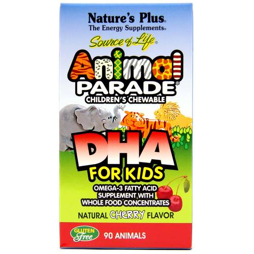 Nature's Plus Animal Parade DHA Cereza - 40 mg - 90 Chewables - 8569_1.jpg