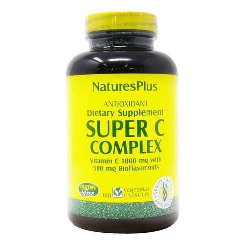 Nature's Plus Super C Complex 1000 mg - 180 Vegetarian Capsules - 8777_front2020.jpg