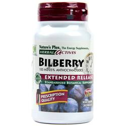 Nature's Plus Bilberry Extended Release - 100 mg - 30 Tablets