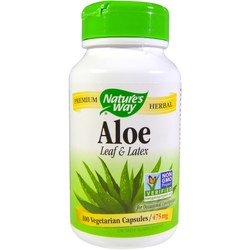 Nature's Way Aloe Vera Latex and Leaf 550 mg
