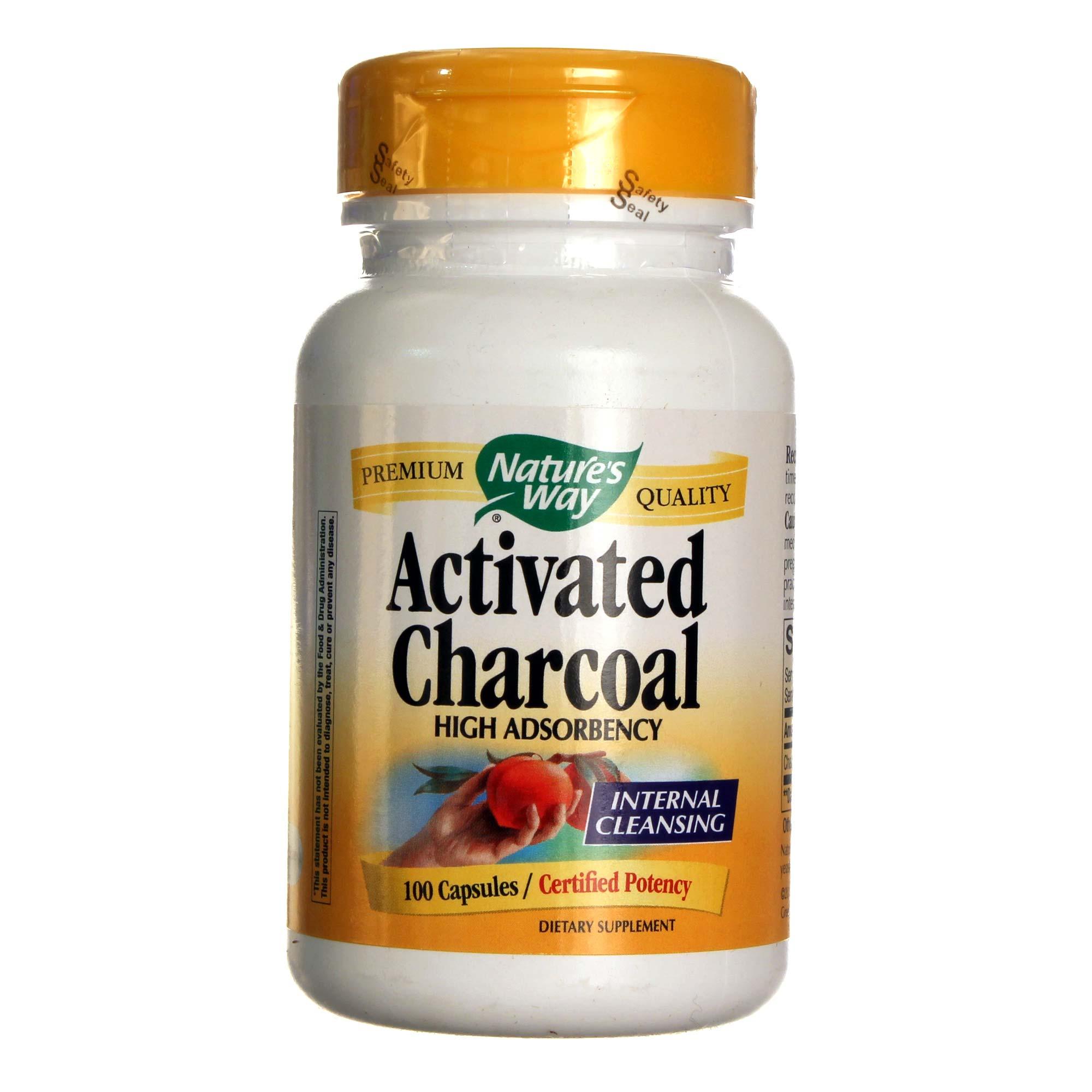 Nature's Way Activated Charcoal - 100 Caps - eVitamins