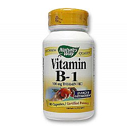 Nature's Way Vitamin B-1  - 100 mg - 100 Capsules