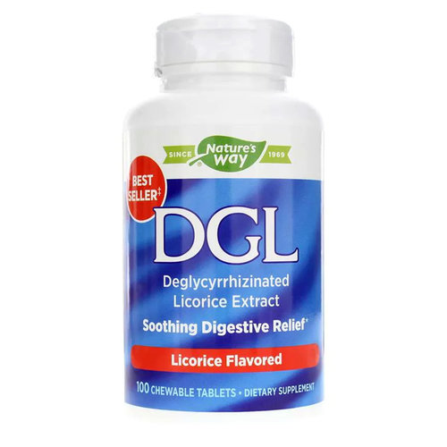 Nature's Way DGL Licorice - 100 Chewable Tablets - 129_frontbottle.jpg